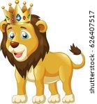cute lion king cartoon. vector... | Shutterstock .eps vector #626407517