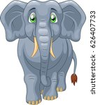 cute elephant cartoon. vector... | Shutterstock .eps vector #626407733