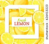 square white frame and... | Shutterstock .eps vector #626413223