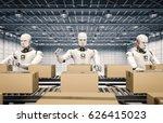 3d rendering robot working with ... | Shutterstock . vector #626415023