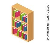 bookshelves.hardwood bookcase... | Shutterstock .eps vector #626421107