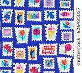 vector seamless pattern of... | Shutterstock .eps vector #626435027
