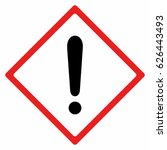 warning sign vector design... | Shutterstock .eps vector #626443493