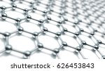 3d illusrtation of graphene... | Shutterstock . vector #626453843