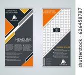 modern roll up business banners ...   Shutterstock .eps vector #626458787