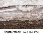 Muddy Ice Melting Water Bubble...