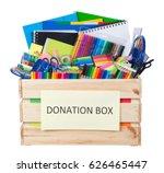 stationary supplies donations... | Shutterstock . vector #626465447