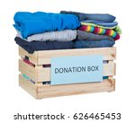 clothes donations box isolated... | Shutterstock . vector #626465453