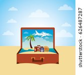 travel and tourism design   Shutterstock .eps vector #626487287