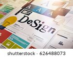 graphic design. concept for... | Shutterstock . vector #626488073