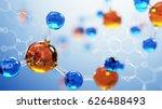 3d illustration of molecule... | Shutterstock . vector #626488493
