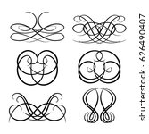 decorative monograms and... | Shutterstock .eps vector #626490407