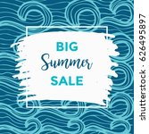 summer discount cards design....   Shutterstock .eps vector #626495897