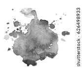 abstract watercolor grayscale... | Shutterstock .eps vector #626498933
