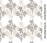 floral ornate line seamless... | Shutterstock .eps vector #626502653