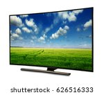 4k monitor isolated on white.... | Shutterstock . vector #626516333