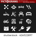 car service vector icons for... | Shutterstock .eps vector #626522897