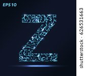 the letter z consists of points ... | Shutterstock .eps vector #626531663