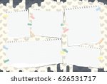 ripped white notebook  copybook ... | Shutterstock .eps vector #626531717