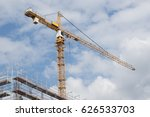 construction crane and building | Shutterstock . vector #626533703