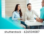 patients consulting the dentist ... | Shutterstock . vector #626534087