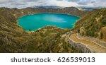 quilotoa lagoon circle trek ...   Shutterstock . vector #626539013