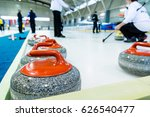 curling stone on a game sheet. | Shutterstock . vector #626540477