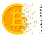 golden bitcoins icon for... | Shutterstock .eps vector #626541143