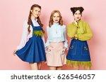 Fashion Photo Of Three Young...
