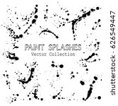 paint splashes vector... | Shutterstock .eps vector #626549447