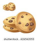 choc chip cookies illustration. ... | Shutterstock .eps vector #626562053