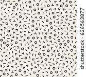 retro geometric line shapes...   Shutterstock .eps vector #626563877