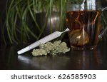 closeup of rolled marijuana... | Shutterstock . vector #626585903