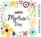mother's day greeting card | Shutterstock .eps vector #626587637