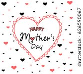 mother's day greeting card | Shutterstock .eps vector #626590067
