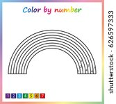 rainbow   painting page  color... | Shutterstock .eps vector #626597333