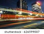 the urban traffic in shenzhen... | Shutterstock . vector #626599007