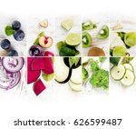 top view of colorful mix... | Shutterstock . vector #626599487