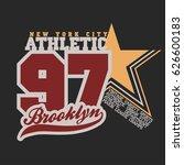 t shirt stamp new york star... | Shutterstock .eps vector #626600183