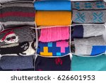 neatly folded clothes in open... | Shutterstock . vector #626601953