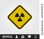 radioactive square sign | Shutterstock .eps vector #626604413