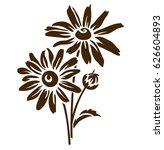 echinacea flower silhouette.... | Shutterstock .eps vector #626604893