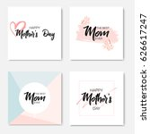 set of happy mothers day... | Shutterstock .eps vector #626617247