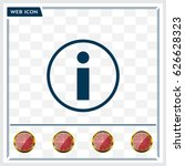 information sign icon  vector... | Shutterstock .eps vector #626628323
