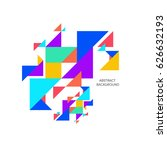 abstract colorful geometric... | Shutterstock .eps vector #626632193