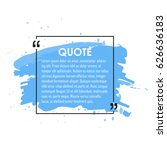 quote text bubble. commas  note ... | Shutterstock .eps vector #626636183