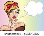 pin up style sexy dreaming... | Shutterstock .eps vector #626642837