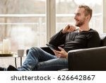 casual laid back man wearing a... | Shutterstock . vector #626642867