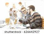 business team discussing...   Shutterstock . vector #626642927