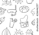 collection of summer hand draw... | Shutterstock .eps vector #626646257